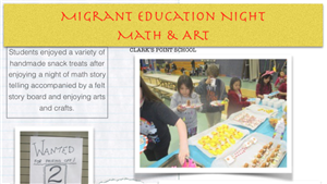 Screenshot of Migrant Family Night Newsletter