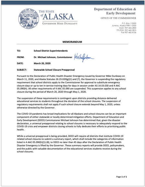 20200320_DEED_COVID-19_Memo_StatewideSchoolClosurePreapproval