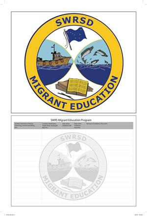 Southwest Migrant Education Program logo and space for recording Migrant activities.