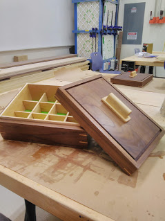 jewelry box made by student with lid off