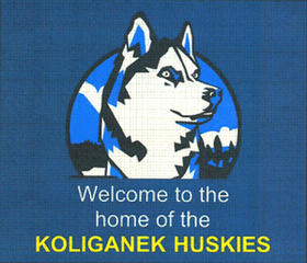 Koliganek Huskies School Logo